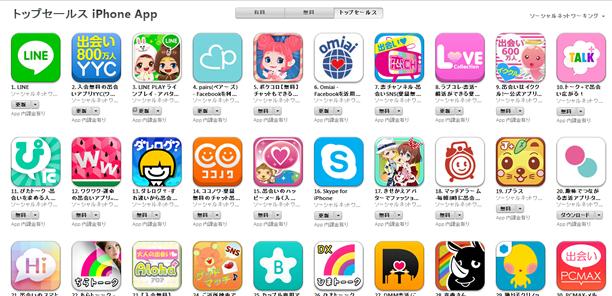 App Store週次ランキング(9/15)タップル誕生が6位上昇!新機能の効果有りか