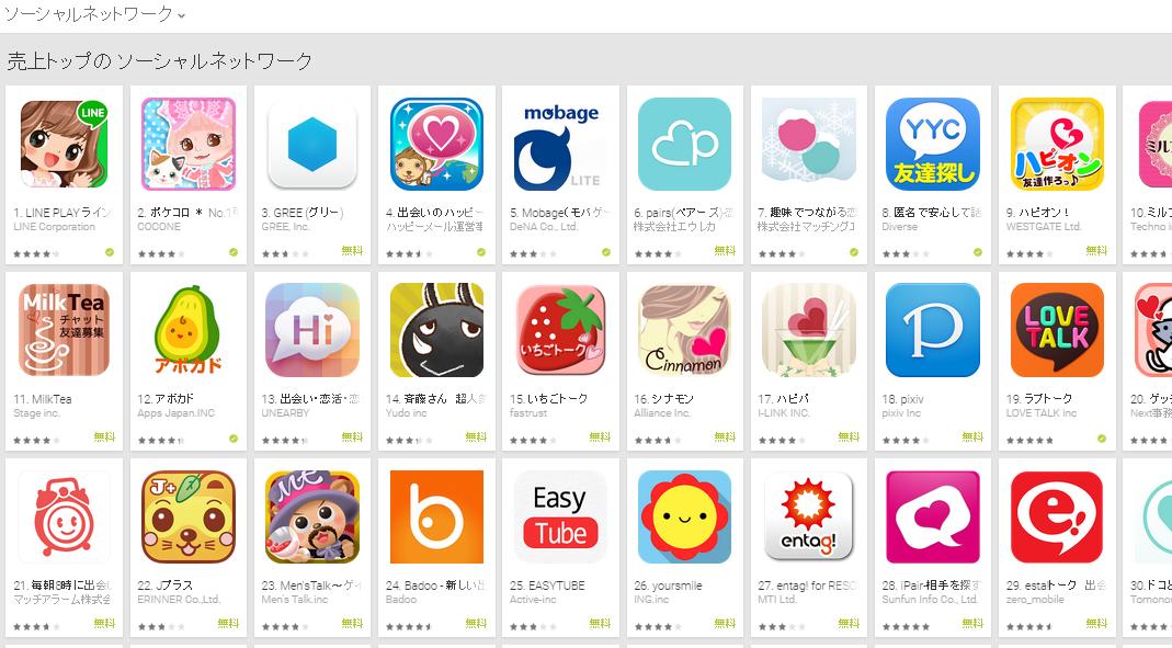 Google Play週次ランキング(2/9) ラブトーク順調に前進