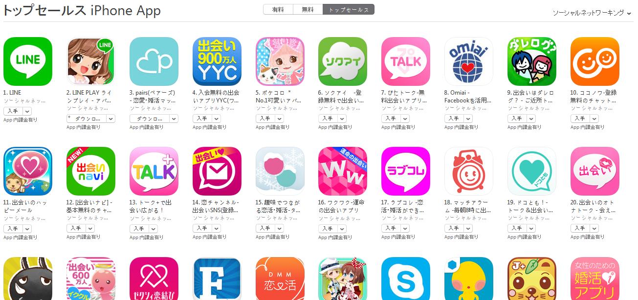 App Store週次ランキング(3/9) YYC4位まで上昇、ハッピーメールも復活し再びランクイン