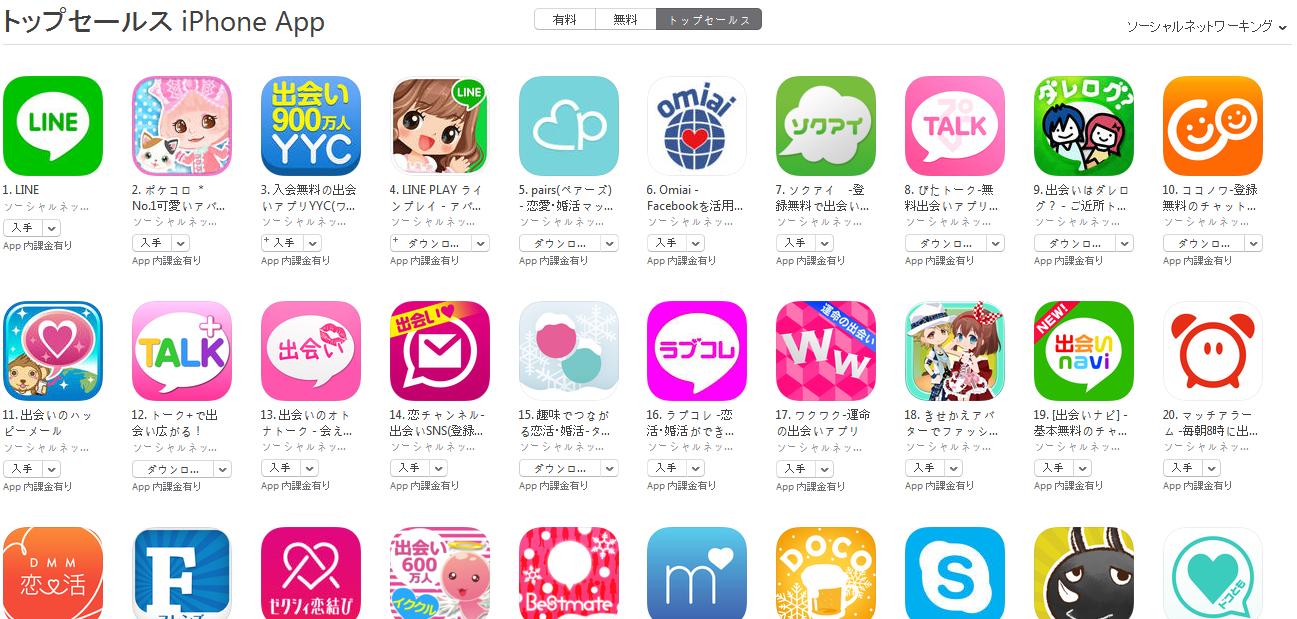 App Store週次ランキング(3/16) YYCが3位に上昇