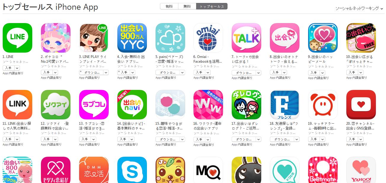 App Store週次ランキング(4/13) LINKが急上昇