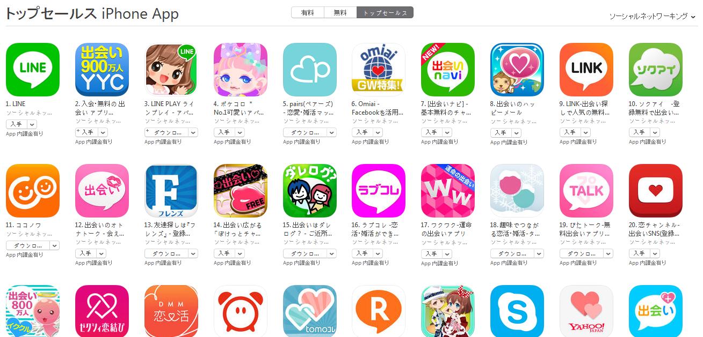 App Store週次ランキング(5/4) 出会いナビが急上昇