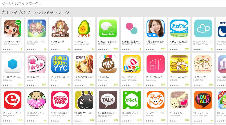 Google Play週次ランキング(6/15) アボカドがランキングを伸ばす