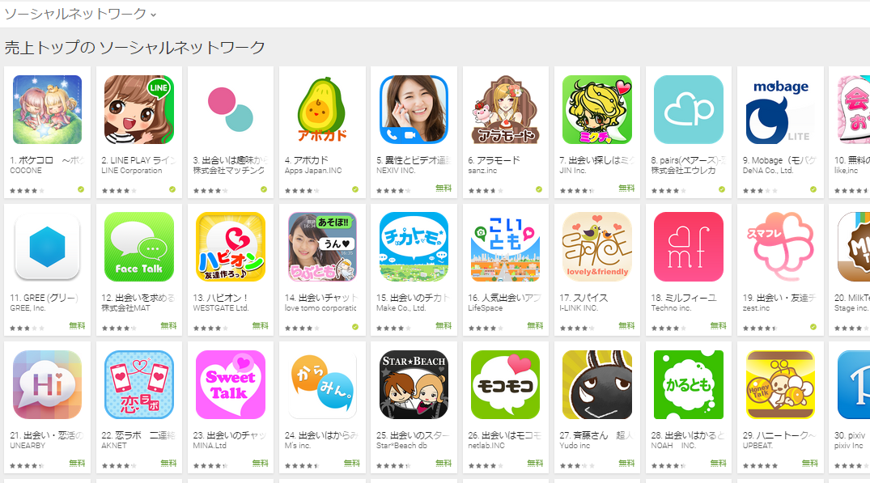 Google Play週次ランキング(8/10) Eazyが上昇