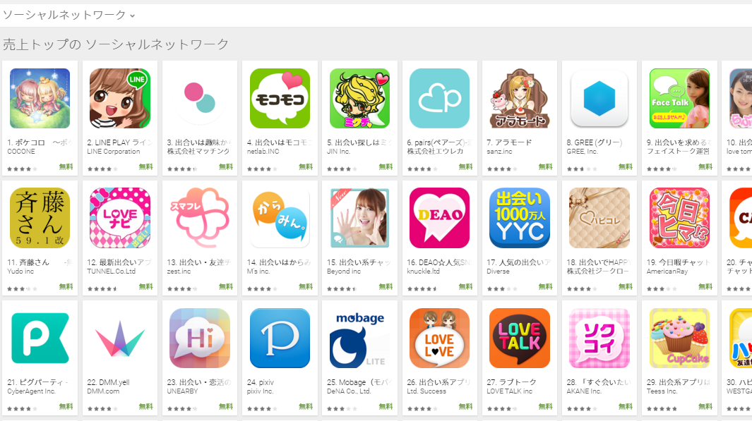 Google Play週次ランキング(12/28) 佐藤さんが大きく上昇