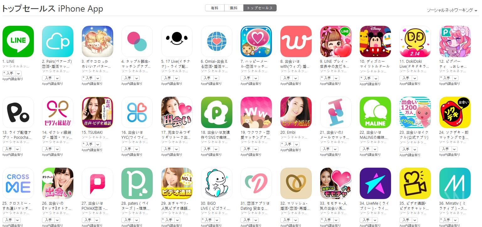 App Store(ソーシャルネットワーキング トップセールスランキング)(2/11) ポケコロが3位に上昇