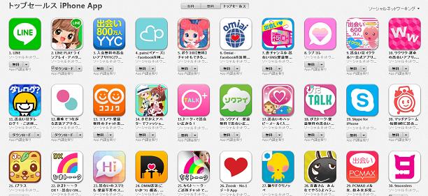 App Store週次ランキング(9/29)大きな変動なし。LINE勢が1位2位を独占