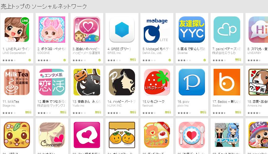 Google Play週次ランキング(10/20)上位に大きな変動はなし