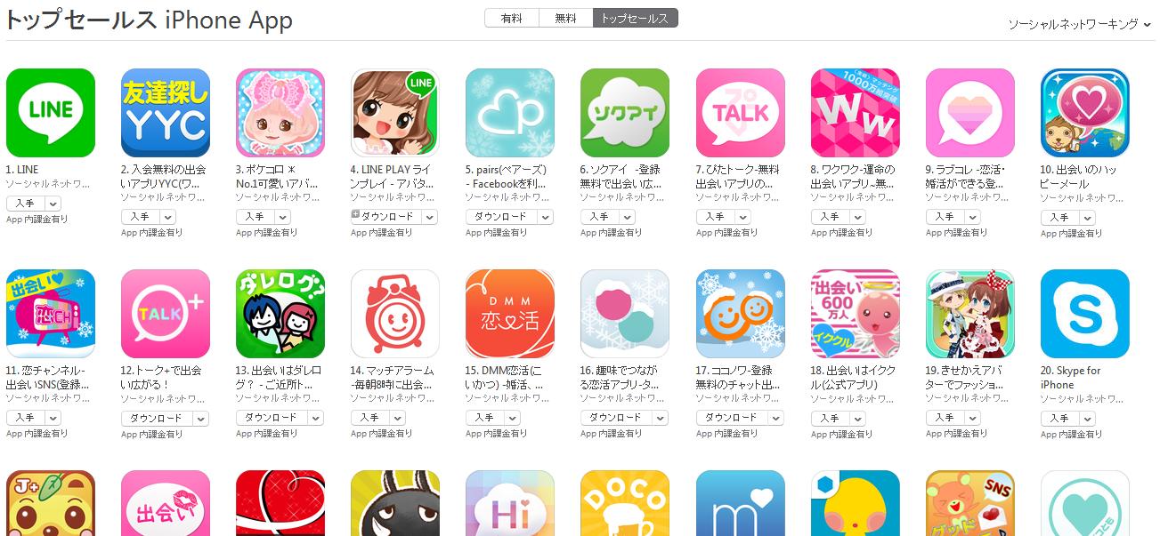 App Store週次ランキング(12/22)