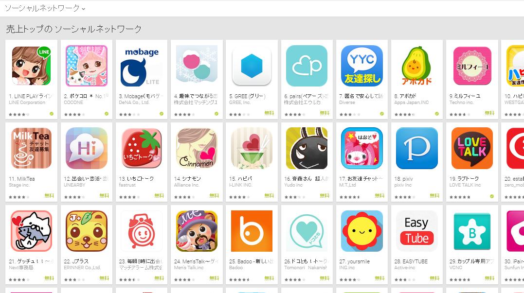 Google Play週次ランキング(2/16) タップル誕生が再び4位に上昇