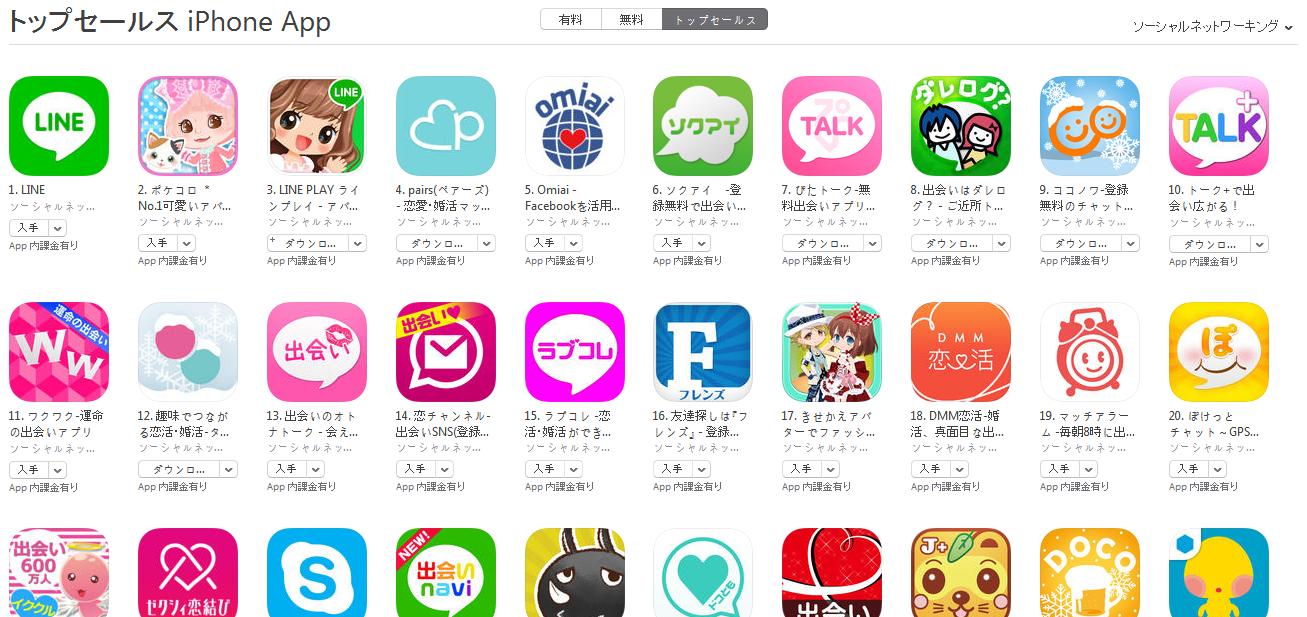App Store週次ランキング(3/2) 出会い系アプリYYCとハッピーメールがApp Storeからリジェクトされる