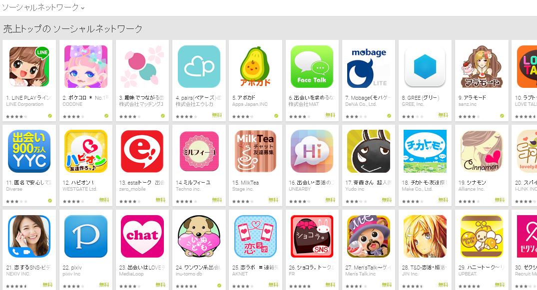 Google Play週次ランキング(4/13) フェイストークが勢いを見せる