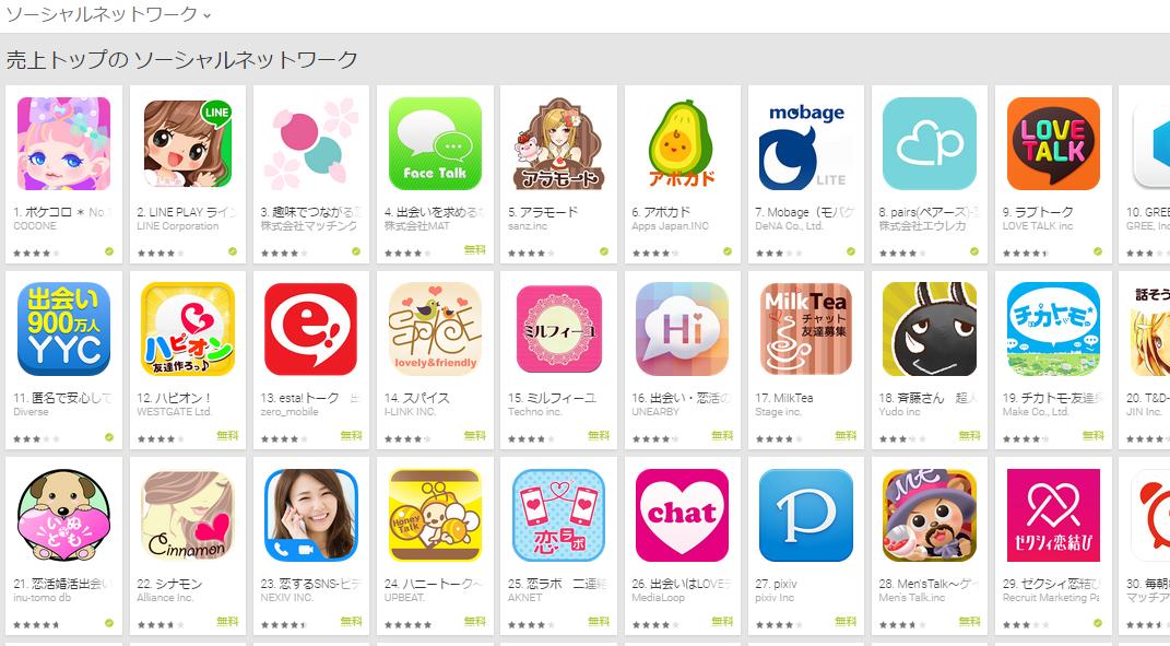 Google Play週次ランキング(4/27) ポケコロが1位に