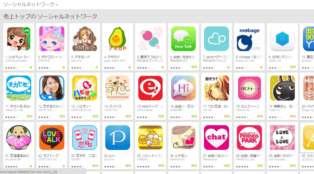 Google Play週次ランキング(5/11)アラモード、アボカドらが好調