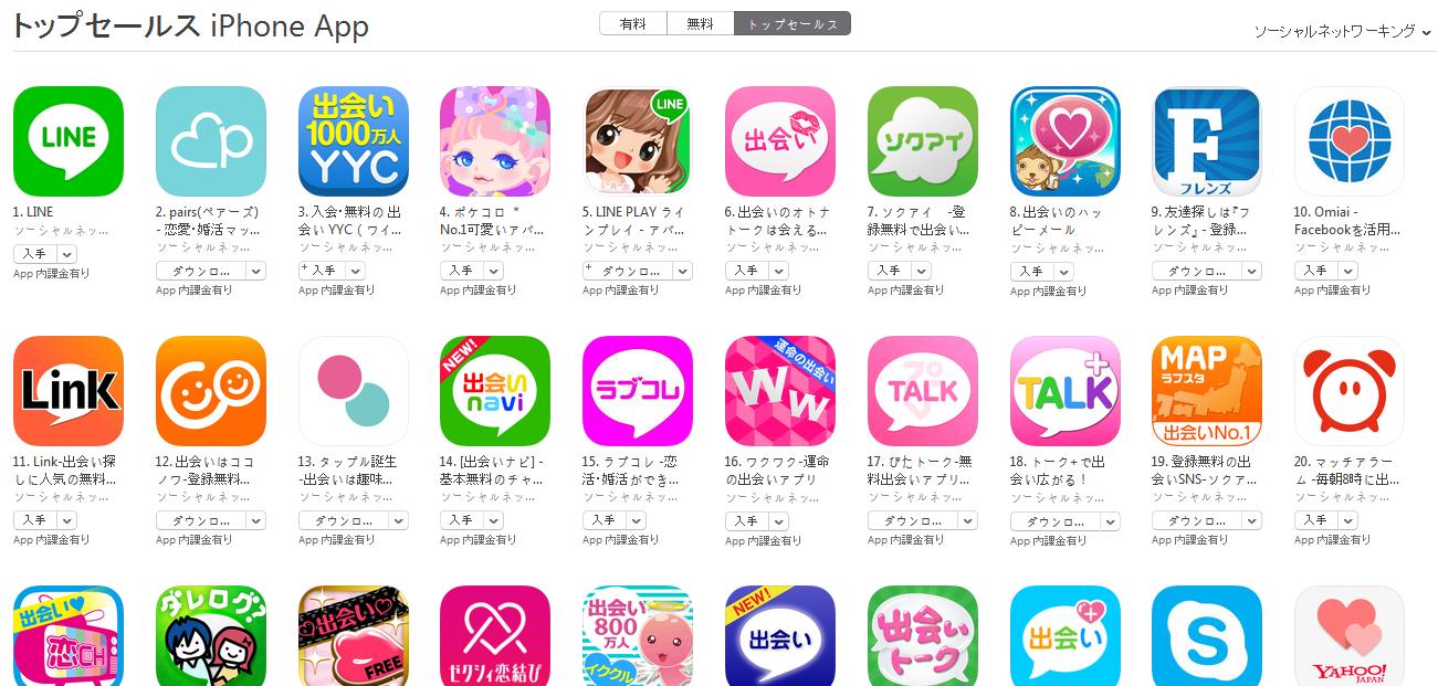App Store週次ランキング(6/15) yycが3位に