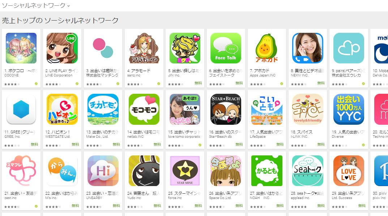 Google Play週次ランキング(8/31) 上位に変動起こらず