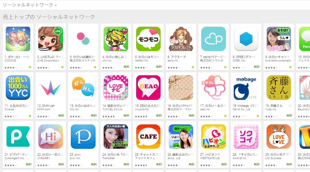 Google Play週次ランキング(12/14) モバゲーが大きく後退