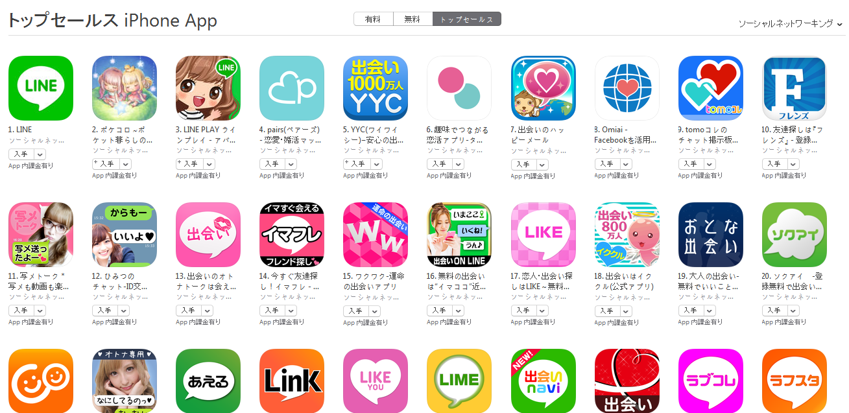 App Store週次ランキング(12/7) yycが上昇