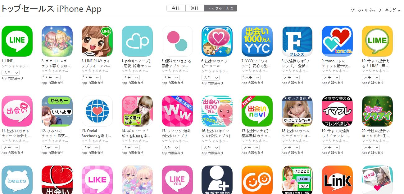 App Store週次ランキング(12/21) LIMEが10位にランクイン