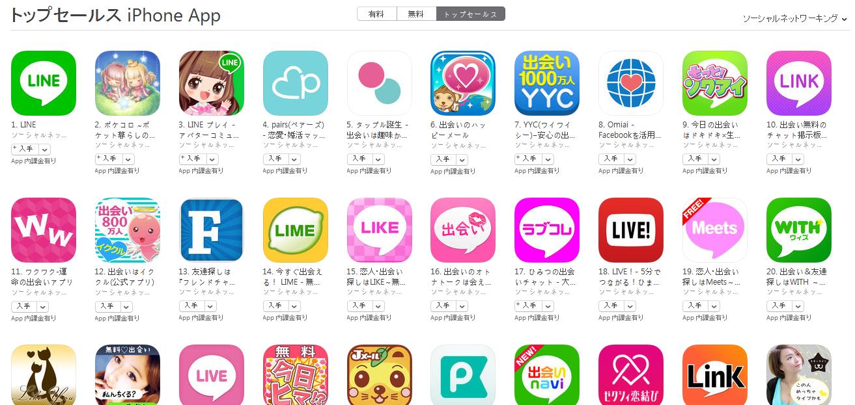 App Store(ソーシャルネットワーキング トップセールスランキング)(5/2) LINE PLAYが再び3位に上昇