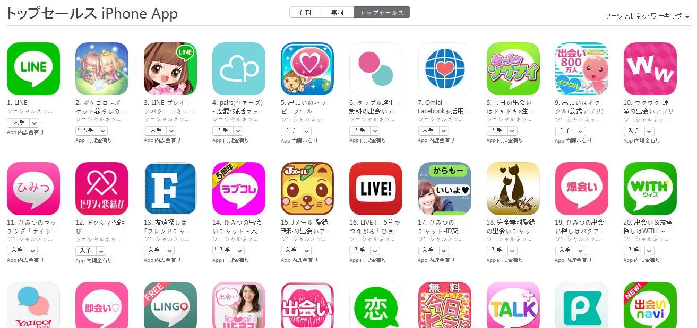 App Store(ソーシャルネットワーキング トップセールスランキング)(6/27) ポケコロ2位に上昇