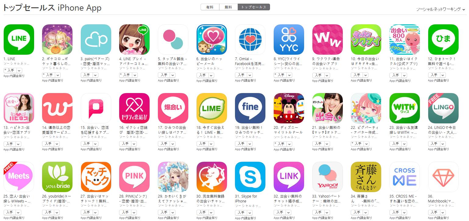 App Store(ソーシャルネットワーキング トップセールスランキング)(10/17) ディズニー マイリトルドールが再びトップ30に浮上