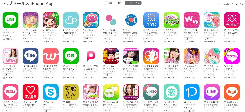 App Store(ソーシャルネットワーキング トップセールスランキング)(10/31) ポケコロが2位に再浮上
