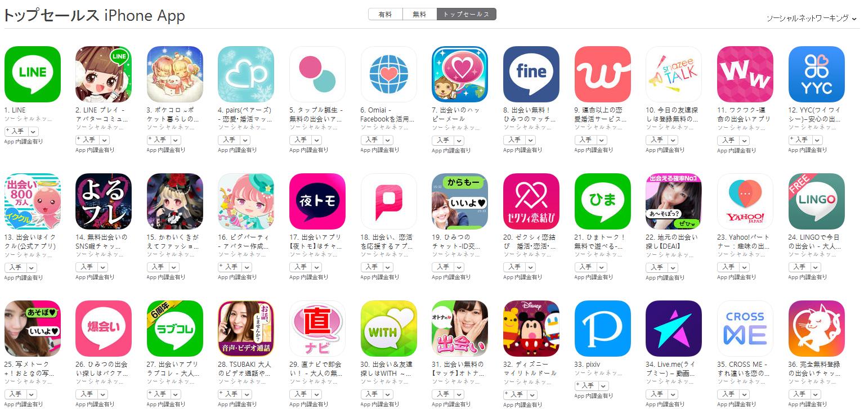 App Store(ソーシャルネットワーキング トップセールスランキング)(1/3) snazeeが10位にランクイン