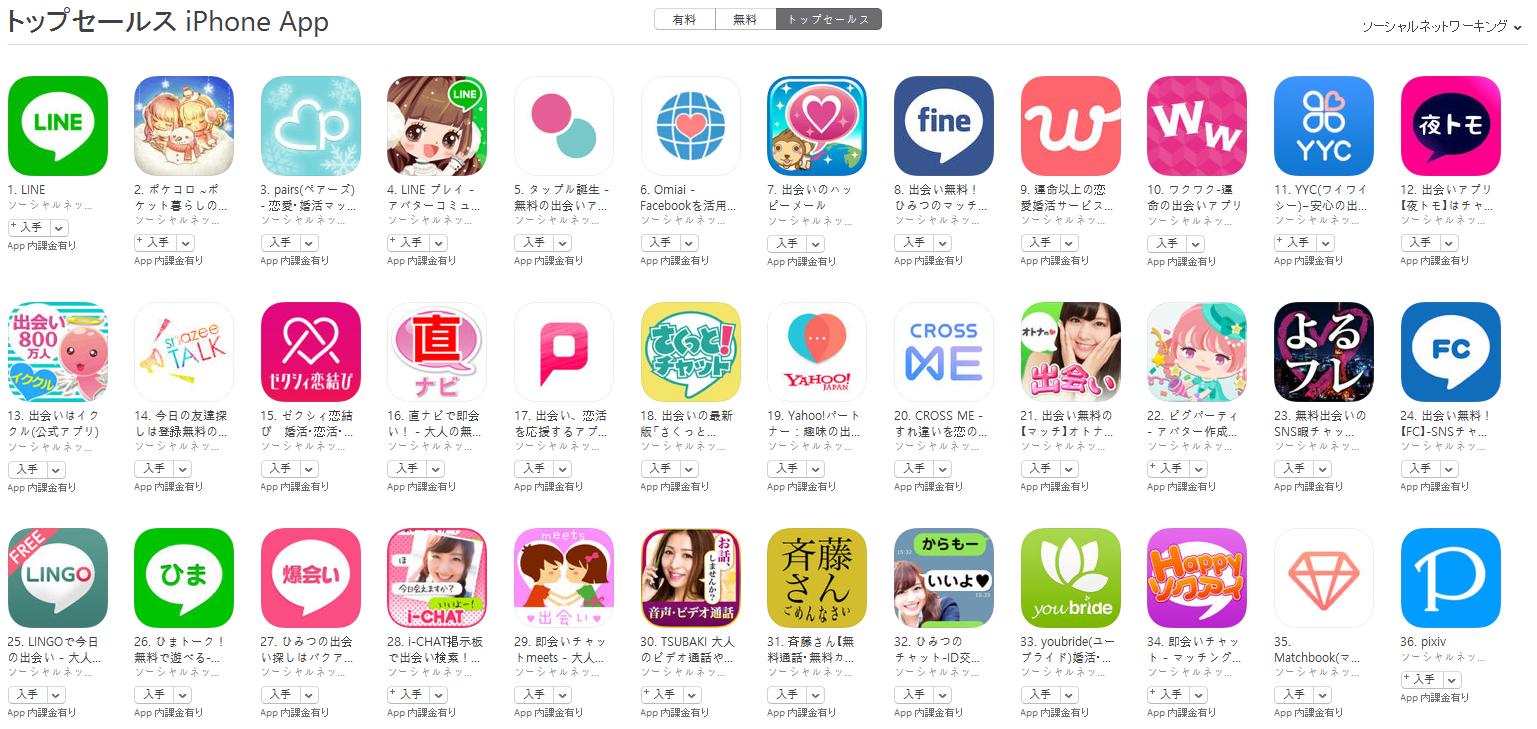 App Store(ソーシャルネットワーキング トップセールスランキング)(1/9) ポケコロが2位に上昇