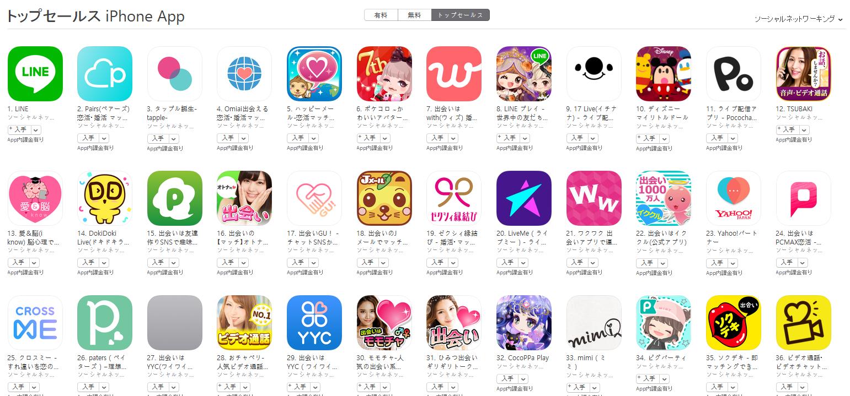 App Store(ソーシャルネットワーキング トップセールスランキング)(9/24) ディズニー マイリトルドールが10位にランクイン